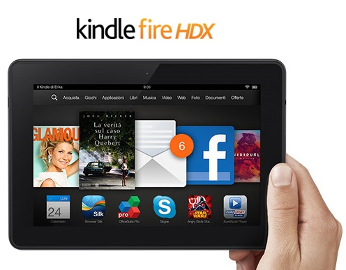 Il Kindle Fire HDX in offerta su Amazon da 189 euro